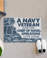 "NV Veteran and his Chief of Naval Doormat 34"" x 23"" aos-doormat-34-x-23-lifestyle-front-07"