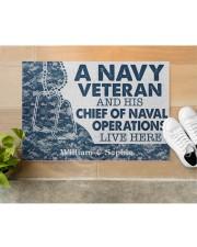 "NV Veteran and his Chief of Naval Doormat 34"" x 23"" aos-doormat-34-x-23-lifestyle-front-12"