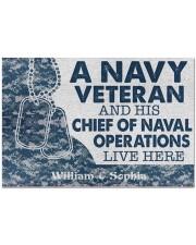 "NV Veteran and his Chief of Naval Doormat 34"" x 23"" front"