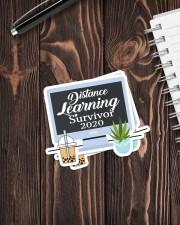 Teacher317a Distance Learning Survivor Sticker - 2 pack (Vertical) aos-sticker-2-pack-vertical-lifestyle-front-05