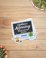 Teacher317a Distance Learning Survivor Sticker - 2 pack (Vertical) aos-sticker-2-pack-vertical-lifestyle-front-07