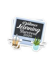 Teacher317a Distance Learning Survivor Sticker - 2 pack (Vertical) front