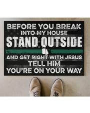 """Veteran Before you break into my house  Doormat 34"""" x 23"""" aos-doormat-34-x-23-lifestyle-front-04"""