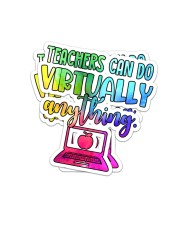 Teacher Can do virtually anything Sticker - 2 pack (Vertical) front