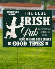 Bartender St Patrick's Day The Olde Irish Yardsign 24x18 Yard Sign aos-yard-sign-24x18-lifestyle-front-02