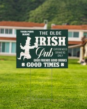 Bartender St Patrick's Day The Olde Irish Yardsign 24x18 Yard Sign aos-yard-sign-24x18-lifestyle-front-03