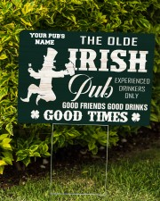 Bartender St Patrick's Day The Olde Irish Yardsign 24x18 Yard Sign aos-yard-sign-24x18-lifestyle-front-04