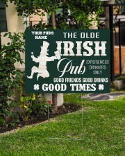 Bartender St Patrick's Day The Olde Irish Yardsign 24x18 Yard Sign aos-yard-sign-24x18-lifestyle-front-06