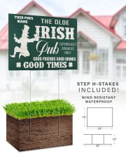 Bartender St Patrick's Day The Olde Irish Yardsign 24x18 Yard Sign aos-yard-sign-24x18-lifestyle-front-31