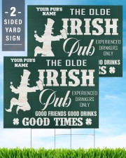 Bartender St Patrick's Day The Olde Irish Yardsign 24x18 Yard Sign aos-yard-sign-24x18-lifestyle-front-32