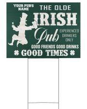 Bartender St Patrick's Day The Olde Irish Yardsign 24x18 Yard Sign back