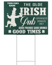 Bartender St Patrick's Day The Olde Irish Yardsign 24x18 Yard Sign front