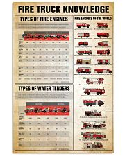 Firefighter Fire truck knowledge  24x36 Poster front