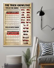 Firefighter Fire truck knowledge  24x36 Poster lifestyle-poster-1