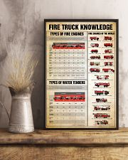 Firefighter Fire truck knowledge  24x36 Poster lifestyle-poster-3
