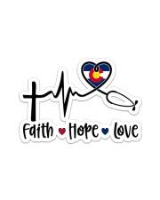 Nurse68 Colorado Faith Hope Love Sticker - Single (Vertical) front