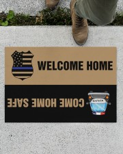 """Police Come home safe p2 Doormat 34"""" x 23"""" aos-doormat-34-x-23-lifestyle-front-01"""