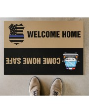 """Police Come home safe p2 Doormat 34"""" x 23"""" aos-doormat-34-x-23-lifestyle-front-04"""