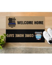"""Police Come home safe p2 Doormat 34"""" x 23"""" aos-doormat-34-x-23-lifestyle-front-12"""
