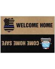 """Police Come home safe p2 Doormat 34"""" x 23"""" front"""