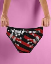 Firefighter Taken by my firefighter Women's Briefs aos-womens-aos-briefs-lifestyle-back-07