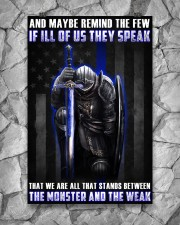 Police Between the monster and the weak  24x36 Poster aos-poster-portrait-24x36-lifestyle-13