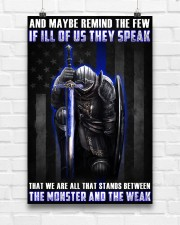Police Between the monster and the weak  24x36 Poster aos-poster-portrait-24x36-lifestyle-17