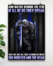 Police Between the monster and the weak  24x36 Poster aos-poster-portrait-24x36-lifestyle-19