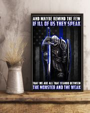 Police Between the monster and the weak  24x36 Poster lifestyle-poster-3
