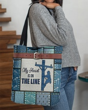 Lineman My heart is on the line  All-over Tote aos-all-over-tote-lifestyle-front-09