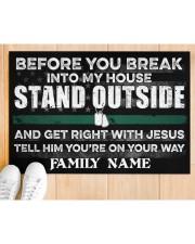 """Veteran Before you break into my house 0604 Doormat 34"""" x 23"""" aos-doormat-34-x-23-lifestyle-front-03"""