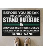 """Veteran Before you break into my house 0604 Doormat 34"""" x 23"""" aos-doormat-34-x-23-lifestyle-front-04"""