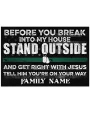"""Veteran Before you break into my house 0604 Doormat 34"""" x 23"""" front"""