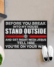 """Firefighter Before you break into my house  Doormat 34"""" x 23"""" aos-doormat-34-x-23-lifestyle-front-07"""