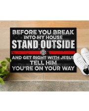 """Firefighter Before you break into my house  Doormat 34"""" x 23"""" aos-doormat-34-x-23-lifestyle-front-12"""