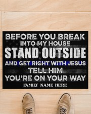 """Police Before you break into my house  Doormat 34"""" x 23"""" aos-doormat-34-x-23-lifestyle-front-02"""