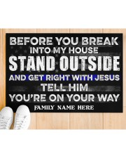 "Police Before you break into my house  Doormat 34"" x 23"" aos-doormat-34-x-23-lifestyle-front-03"