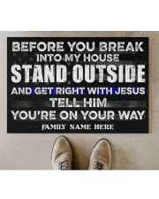 "Police Before you break into my house  Doormat 34"" x 23"" aos-doormat-34-x-23-lifestyle-front-04"
