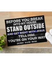 """Police Before you break into my house  Doormat 34"""" x 23"""" aos-doormat-34-x-23-lifestyle-front-11"""