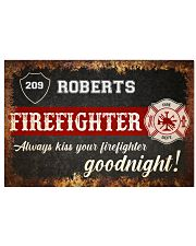 Firefighter always kiss your firefighter 36x24 Poster front
