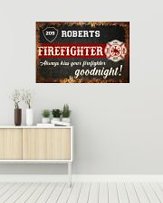 Firefighter always kiss your firefighter 36x24 Poster poster-landscape-36x24-lifestyle-01