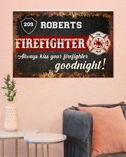 Firefighter always kiss your firefighter 36x24 Poster poster-landscape-36x24-lifestyle-18