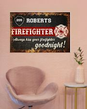 Firefighter always kiss your firefighter 36x24 Poster poster-landscape-36x24-lifestyle-19