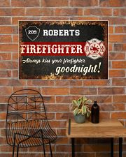 Firefighter always kiss your firefighter 36x24 Poster poster-landscape-36x24-lifestyle-20