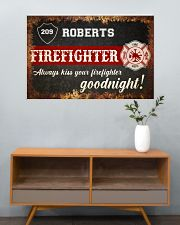 Firefighter always kiss your firefighter 36x24 Poster poster-landscape-36x24-lifestyle-21