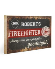 Firefighter always kiss your firefighter Gallery Wrapped Canvas Prints tile