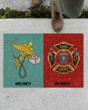 "Nurse Firefighter Couple Doormat 34"" x 23"" aos-doormat-34-x-23-lifestyle-front-01"