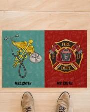 "Nurse Firefighter Couple Doormat 34"" x 23"" aos-doormat-34-x-23-lifestyle-front-02"