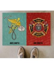 "Nurse Firefighter Couple Doormat 34"" x 23"" aos-doormat-34-x-23-lifestyle-front-04"