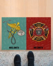 "Nurse Firefighter Couple Doormat 34"" x 23"" aos-doormat-34-x-23-lifestyle-front-10"